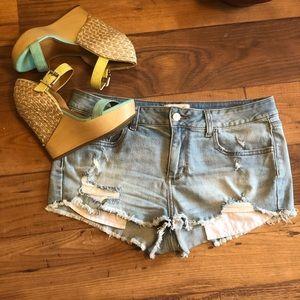 Victoria Secret PINK Distressed Shorts.